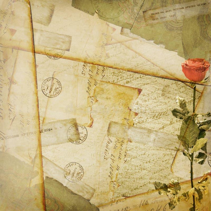 åldrig bakgrund packar gammal vykorttappning in vektor illustrationer