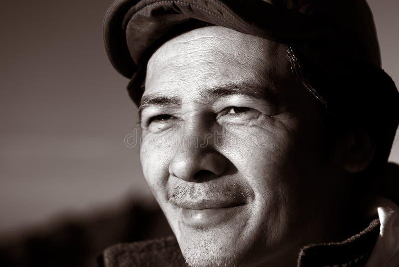 åldrig kinesisk medelutomhus- person royaltyfri bild
