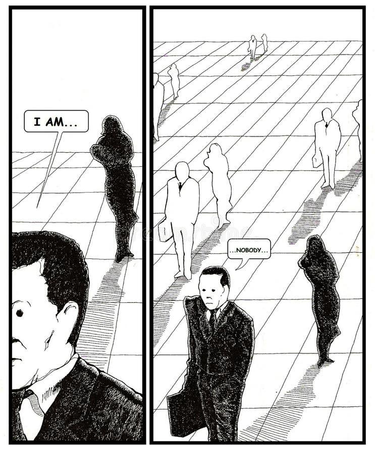 Åldrig mankris för mitt vektor illustrationer