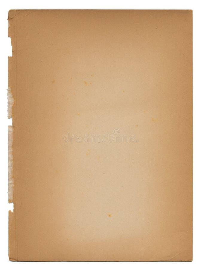 åldrigt antikt urblektt gammalt papper rev sönder riven tappning royaltyfri foto