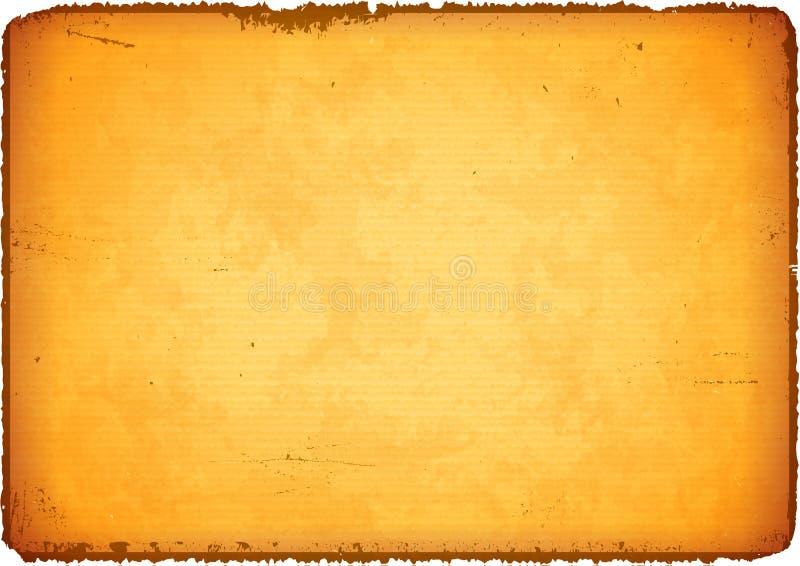Åldrigt papper med rivna kanter stock illustrationer
