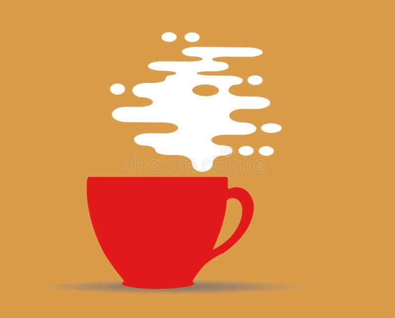 Ånga design för kaffekopp vektor illustrationer