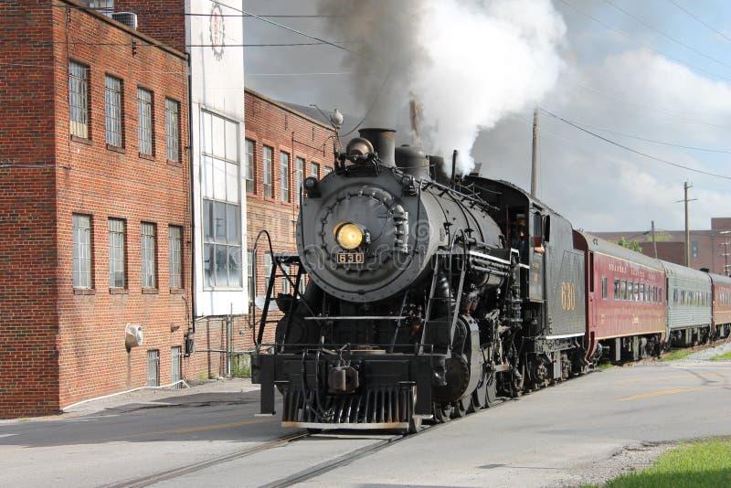 Ånga drevet från Chattanooga, TN till Summerville, GUMMIN royaltyfri fotografi
