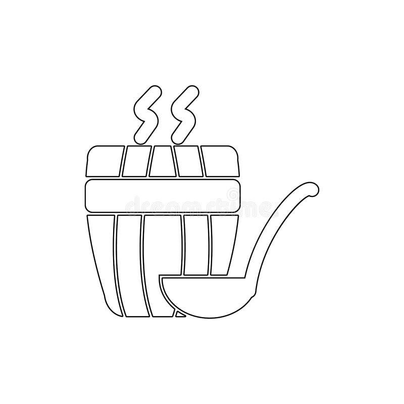 Ånga för bastuöversiktssymbol Badrum- och bastubest?ndsdelsymbol H?gv?rdig kvalitets- grafisk design Tecken symbolsamlingssymbol  stock illustrationer