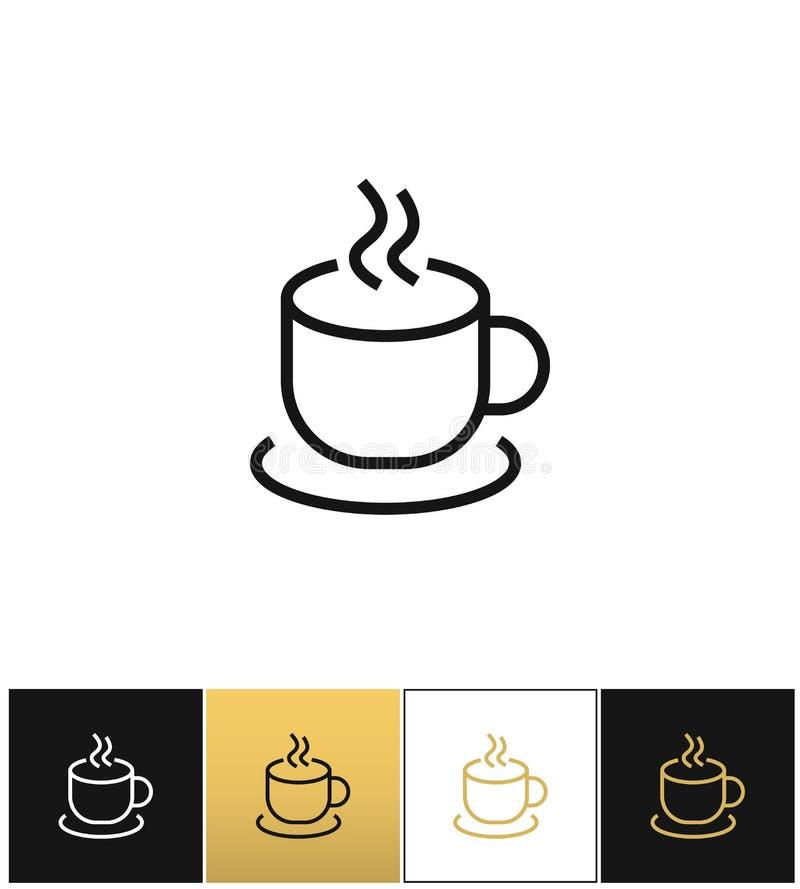 Ånga för kaffekoppen rånar vektorsymbolen vektor illustrationer