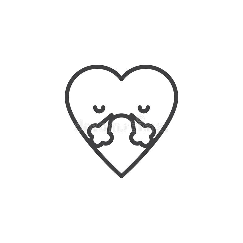 Ånga från symbol för näsemoticonöversikt royaltyfri illustrationer