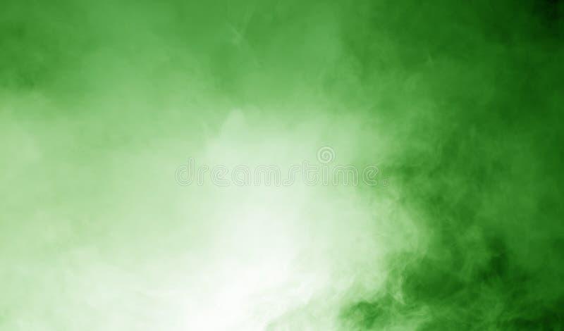 Ånga på den gröna bakgrunden stock illustrationer