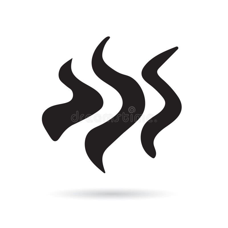 Ånga rök, aromsymbol stock illustrationer