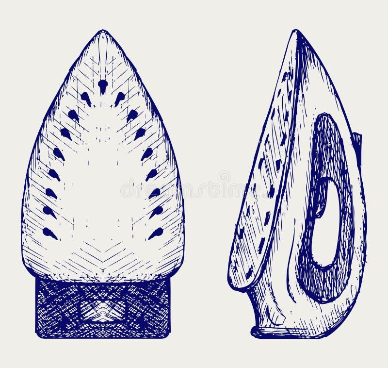 Ånga stryker stock illustrationer