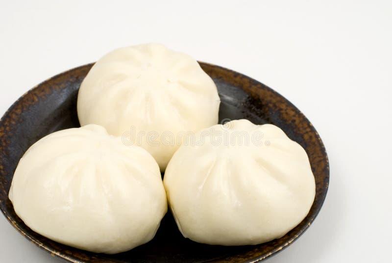 ångad kinesisk meat för bullar royaltyfria bilder