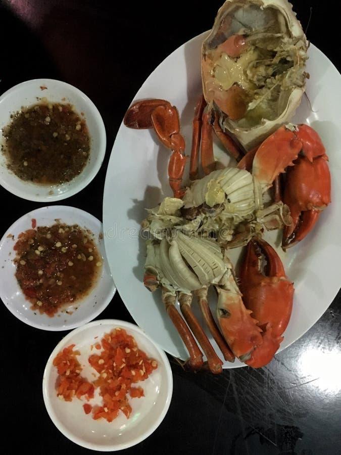 Ångad krabba royaltyfri fotografi