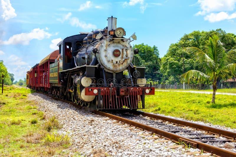 Ångalokomotiv 1549 royaltyfria foton