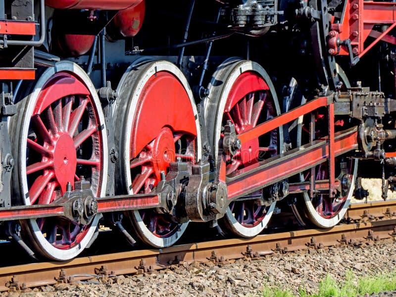 Ångalokomotivet PKP klassificerar hjul Ty2 royaltyfri fotografi