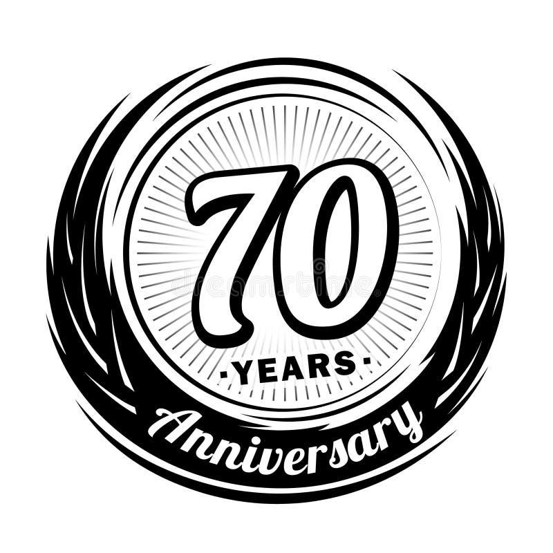 70 år årsdag Elegant årsdagdesign 70th logo vektor illustrationer
