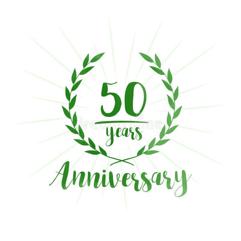 50 år årsdagdesignmall Femtio år årsdag som firar designmallen vektor illustrationer