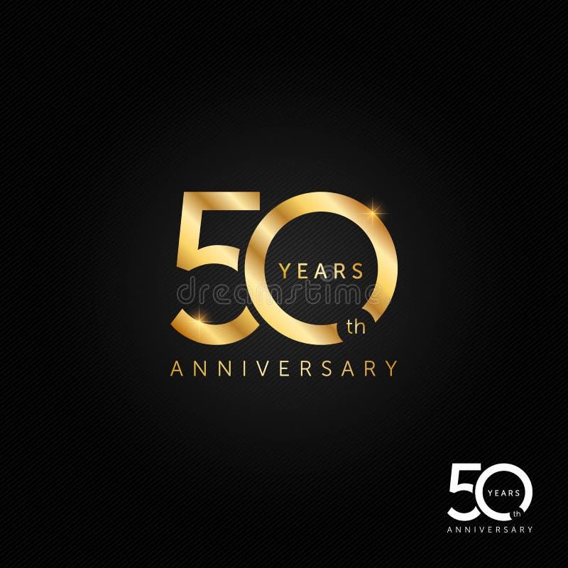 50 år årsdaglogo-, symbols- och symbolvektorillustration, berömbegrepp royaltyfri illustrationer