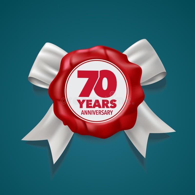 70 år årsdagvektorlogo, symbol malldesignbeståndsdel vektor illustrationer