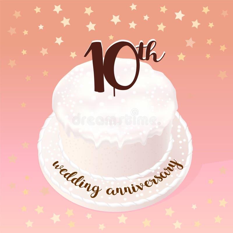 bröllop 10 år 10 år Av Bröllop  Eller Förbindelsevektorsymbolen, Illustration  bröllop 10 år