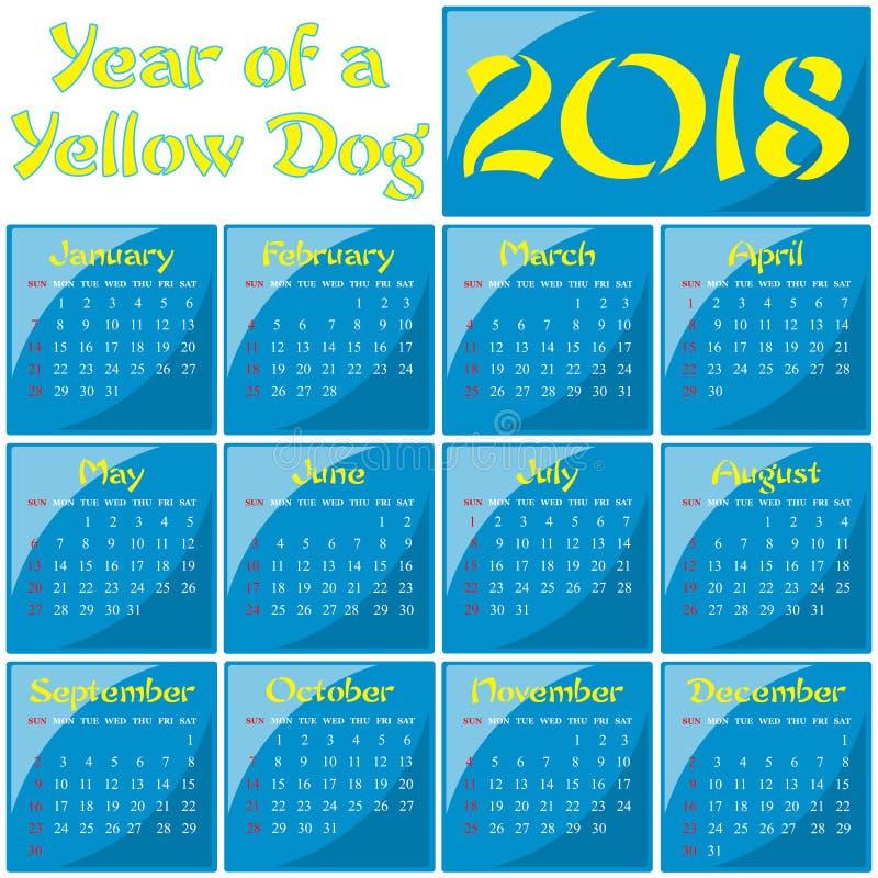 2018 - År av en gul hund arkivbild