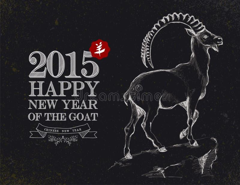 År av för svart tavlatappning för get kortet 2015 stock illustrationer