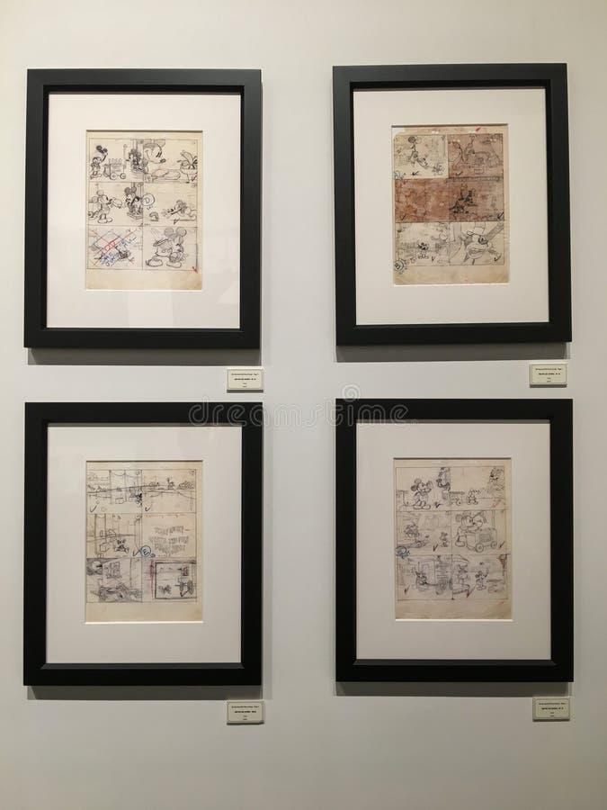 '90 år av Mickey 'utställning i Hong Kong arkivbilder