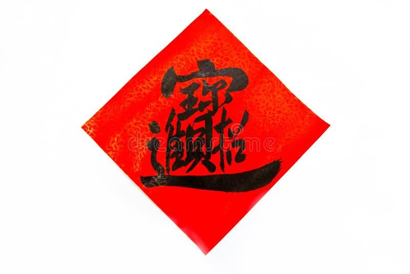 år för fjäder för kinesisk coupletsdecember festival nytt royaltyfri fotografi
