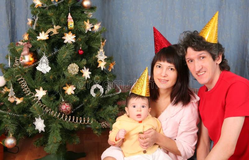 år för lycklig ferie för familj nytt royaltyfria foton