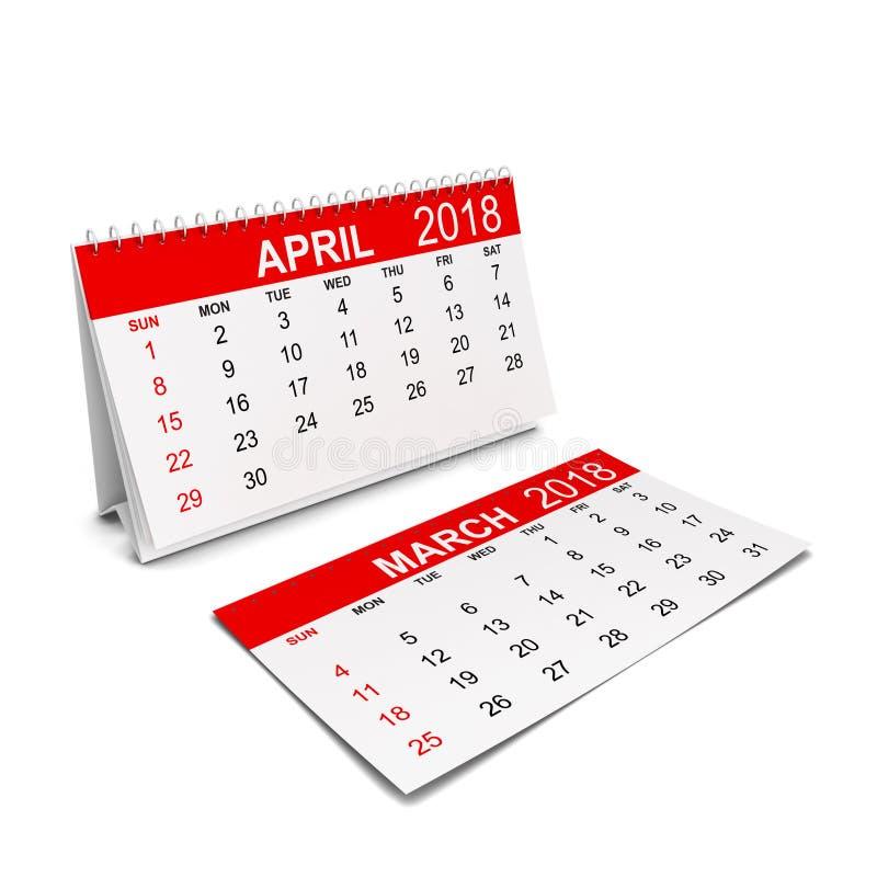 2018 år kalender Veckastarter med söndag stock illustrationer