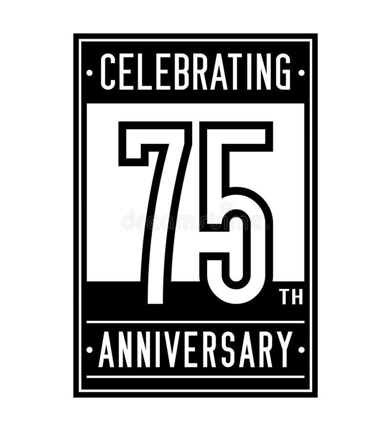 75 år som firar årsdagdesignmallen 75th logo Vektor och illustration vektor illustrationer