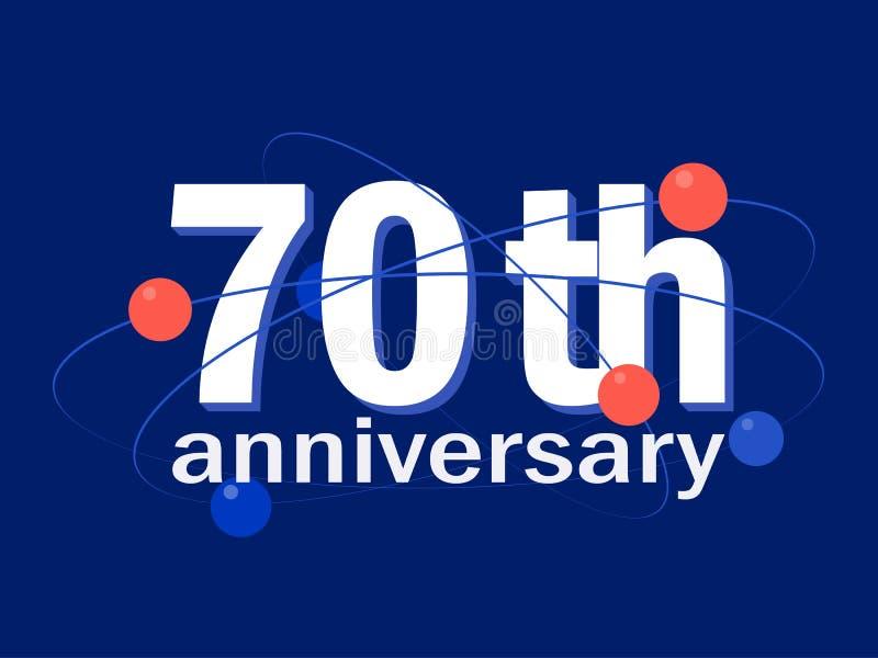 70 år symbol för årsdagberömvektor, logo, designbeståndsdel vektor illustrationer