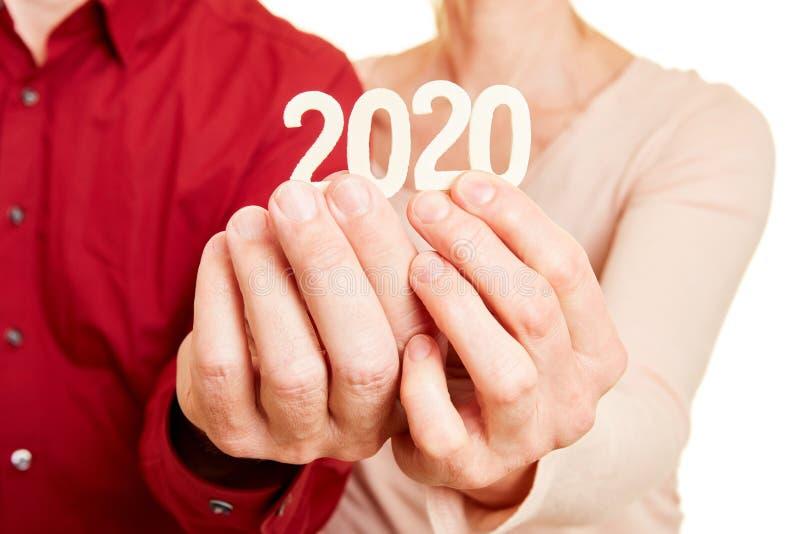 Årets chefer innehar nummer 2020 arkivbilder