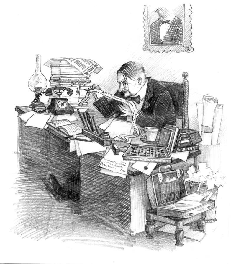 århundrade för 20 affärsman tidigt vektor illustrationer