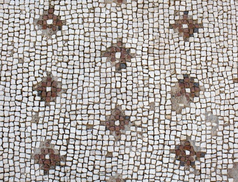 Århundrade A för rd för golvmosaik-romare period 2-3: D , royaltyfri bild