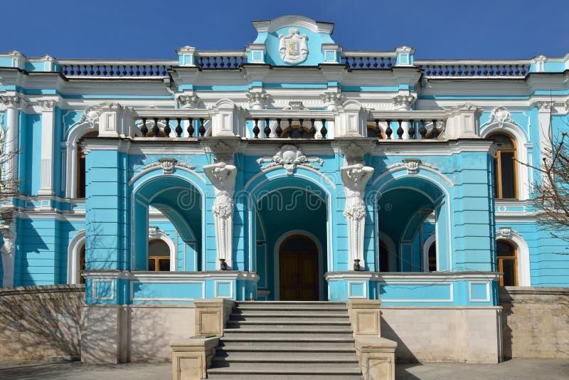 Århundrade för th för Saltykov-Chertkov säteri 17 i stil av klassisk barock på den Myasnitskaya gatan royaltyfri fotografi