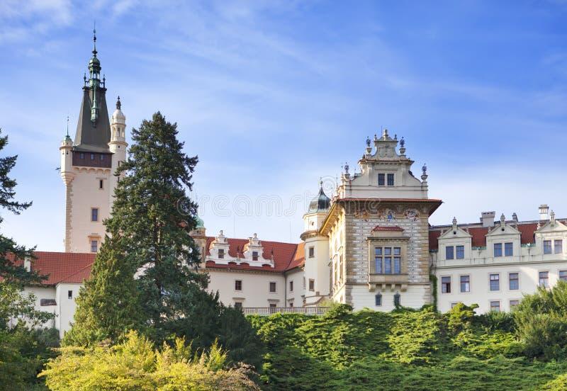 Århundrade XVI för herrgård XII i Pruhonice nära Prague arkivbild