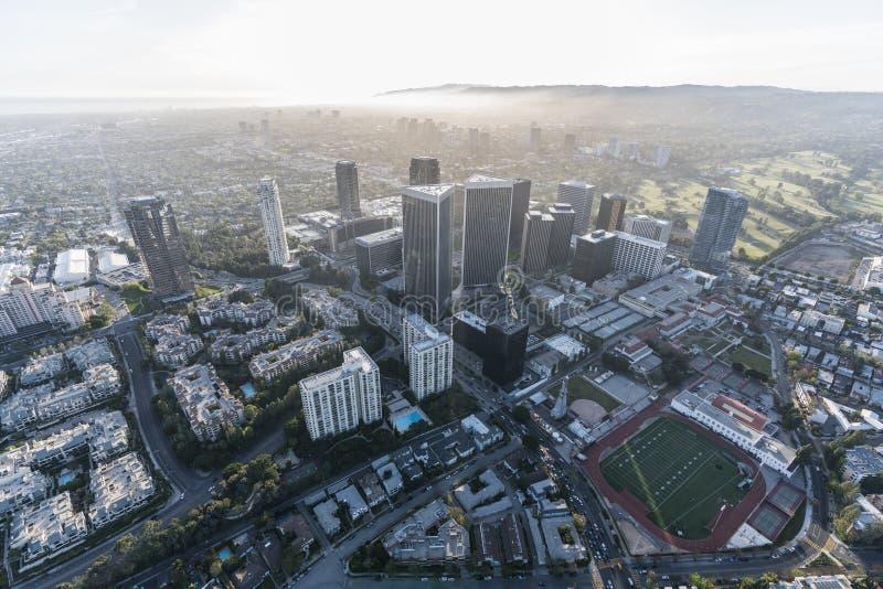 Århundradestad och västra Los Angeles antenn arkivfoton