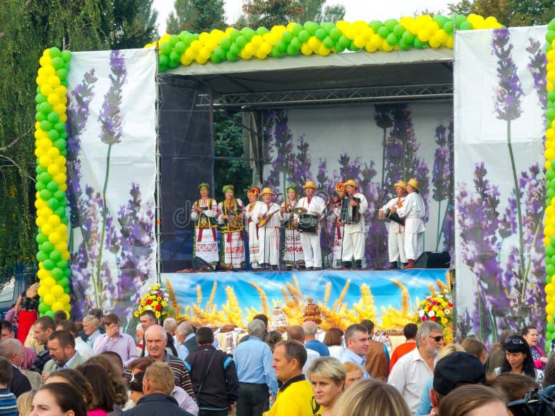 Årlig agro utställning SUMY-2012 arkivfoto