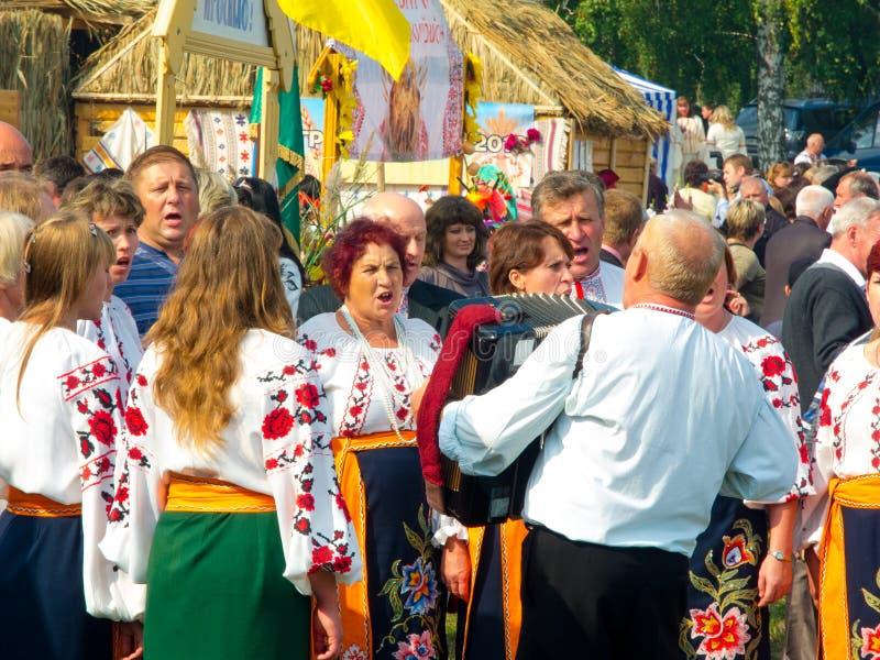Årlig agro utställning SUMY-2012 royaltyfri foto