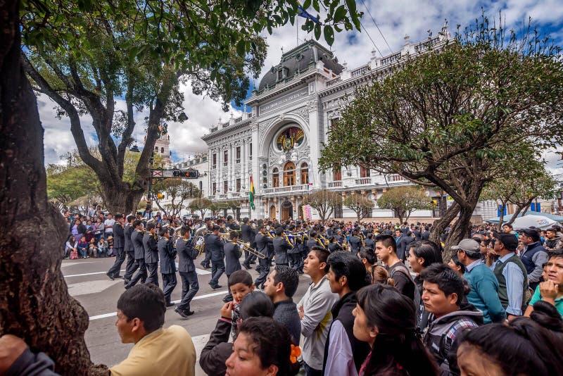Årlig festlighet för el-diameter Del Mar i Sucre, Bolivia royaltyfri bild
