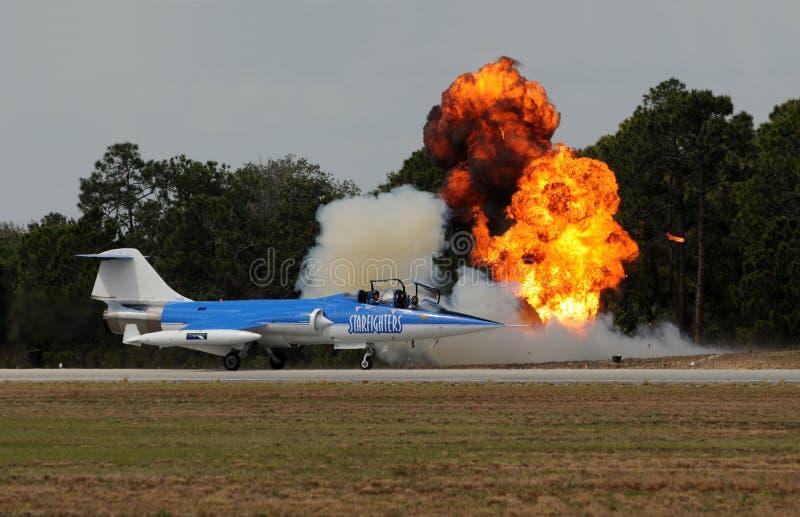 årlig fl-titusville för airshow royaltyfria bilder