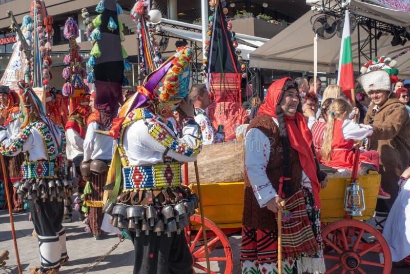 Årlig vårkarneval i Varna, Bulgarien royaltyfria foton