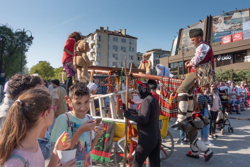 Årlig vårkarneval i Varna, Bulgarien arkivfoton