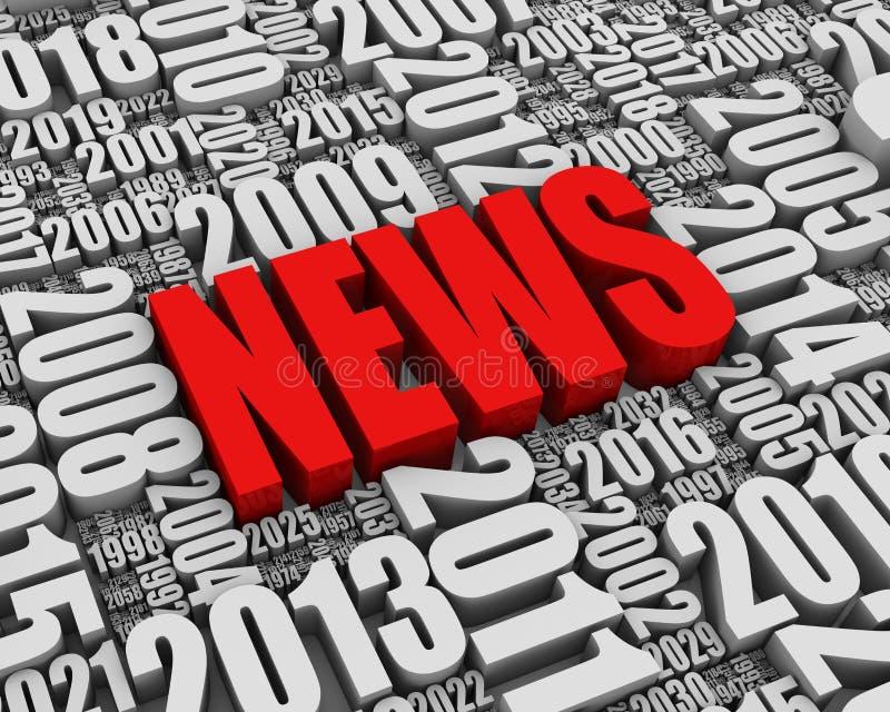 Årliga nyheternahändelser vektor illustrationer