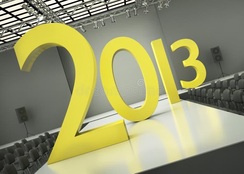 Årsbegrepp 2013 stock illustrationer
