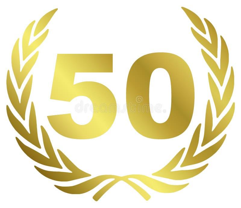 årsdag 50 stock illustrationer