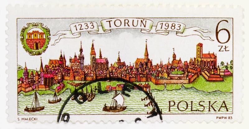750. årsdag av Torun Municipality, circa 1983 arkivbilder