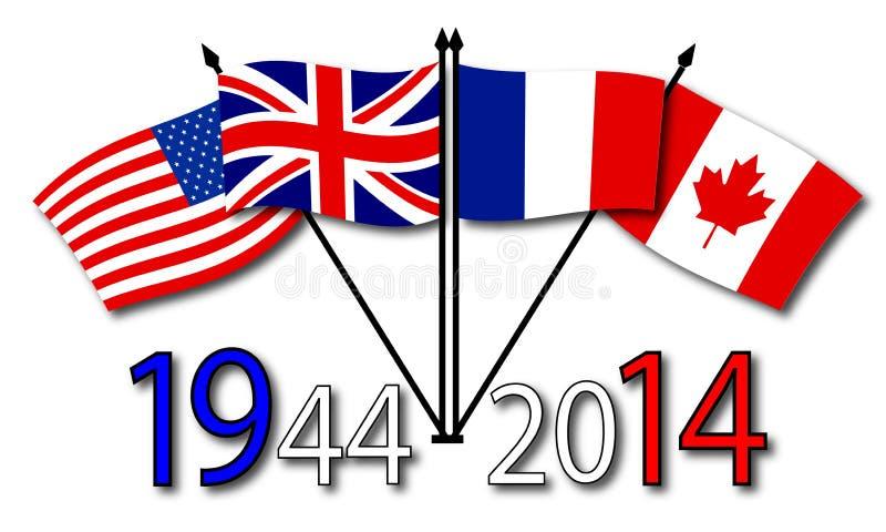 Download Årsdag av två världskrig stock illustrationer. Illustration av minne - 37348575