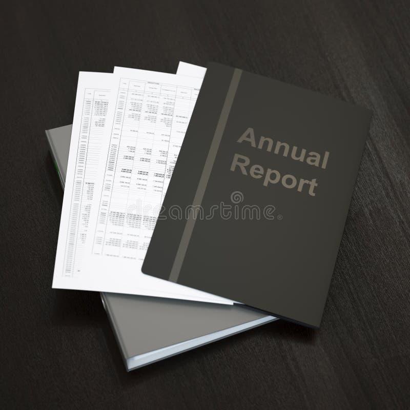 Årsrapport vektor illustrationer