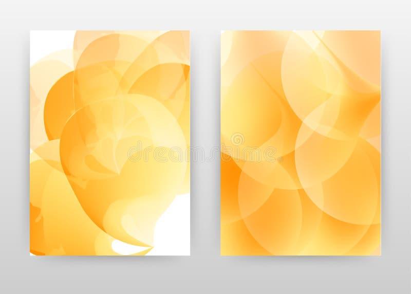 Årsrapport, broschyr, flygblad, affisch. Ren bakgrundsvektor för orangefärgat rent koncept för stock illustrationer