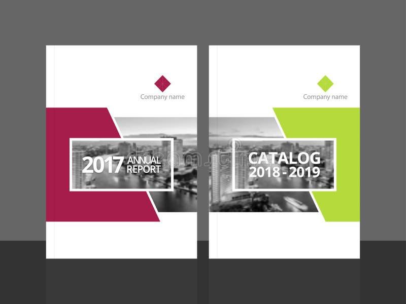 Årsrapport och katalog för räkningsdesignmall royaltyfri bild